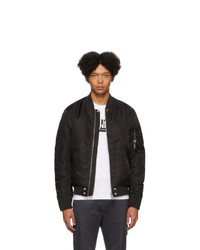 Diesel Reversible Black J Ross Rev Bomber Jacket