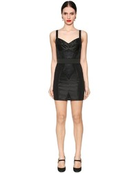 Dolce & Gabbana Satin Chantilly Lace Mini Slip Dress