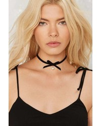 Factory Here Kitty Satin Choker