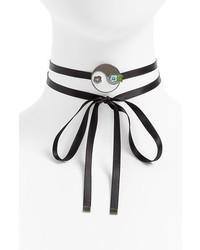 Jiwinaia Yin Yang Ribbon Chokerbracelet