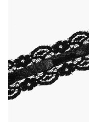 Boohoo Plus Keira Lace Satin Choker