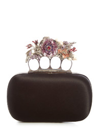 cab0939d3857 Women s Black Satin Clutches by Alexander McQueen