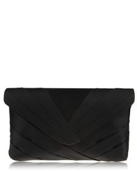 Nina Labreya Pleated V Flap Clutch