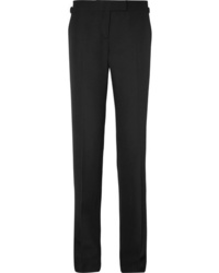 Tom Ford Satin Trimmed Crepe Straight Leg Pants