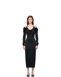 Materiel Tbilisi Black Cowl Neck Dress