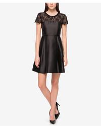 Jessica Simpson Embellished Lace Yoke Fit Flare Dress