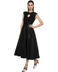 Flared washed cotton silk satin dress medium 3662622