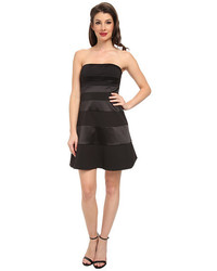 Jessica Simpson Strapless Fit And Flare Panel Dress