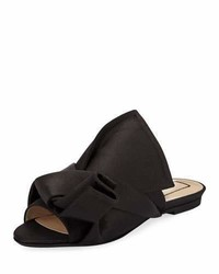 No.21 No 21 Pleated Flat Satin Slide Sandal