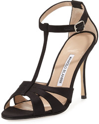 Dioniga satin 105mm sandal black medium 535888