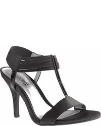 Kenneth Cole Reaction Know Way Black Satinleather High Heels