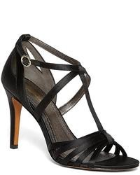 Brooks Brothers Satin High Heeled Sandals
