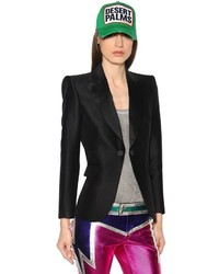 Dsquared2 Revers Satin Wool Silk Jacket