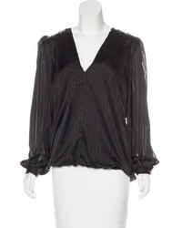Zimmermann Long Sleeve Satin Blouse