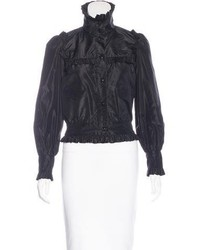 Chanel Ruffle Trimmed Silk Blouse