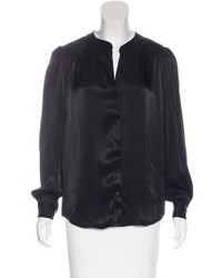 L'Agence Satin Long Sleeve Blouse
