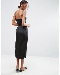 dba52d816cef Asos Tall Asos Tall Midi Slip Dress In Satin With Tie Waist, $43 ...