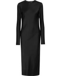Haider Ackermann Satin Midi Dress Black