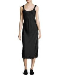 Sleeveless satin slip dress black medium 874496