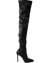 Christian Louboutin Montana 120 Stretch Satin Thigh Boots