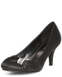 Dorothy Perkins Black Satin Court Shoes
