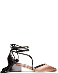 Jimmy Choo Duchess Satin And Leather Pumps