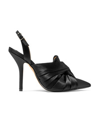 No.21 Knotted Satin Slingback Pumps