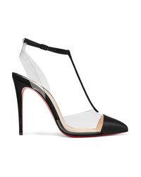 Christian Louboutin Nosy 100 Crystal Embellished Satin And Pvc Pumps