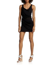 Halston Heritage Strapped Ponte Mini Dress