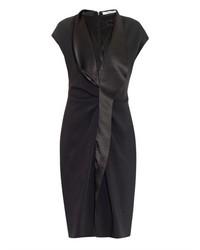 Givenchy Satin Lapel Stretch Cady Dress