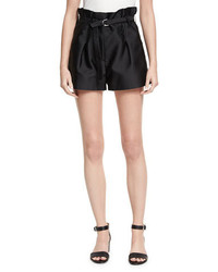 3.1 Phillip Lim Satin Origami Shorts Black
