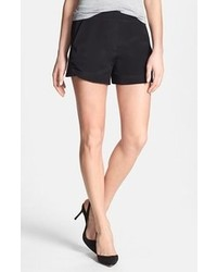 Theory Klin Silk Shorts Black 0