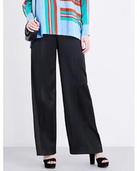 Diane von Furstenberg Wide Leg Satin Trousers