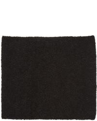 YMC Black Boucl Scarf