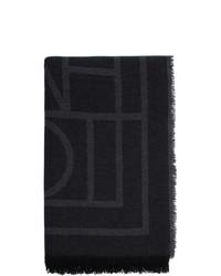 Totême Black Cashmere Como Scarf