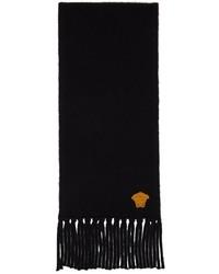 Versace Black Cashmere Medusa Scarf