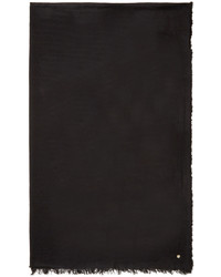 Ann Demeulemeester Black Cashmere Scarf