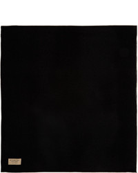 Burberry Black Grey Merino Charlotte Scarf