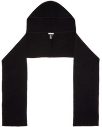 Helmut Lang Black Hooded Scarf