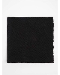 Dorothy Perkins Black Pleated Scarf