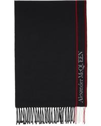 Alexander McQueen Black Selvedge Blanket Scarf