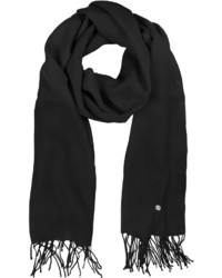 Mila Schon Black Wool And Cashmere Stole