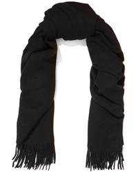 Acne Studios Canada Fringed Wool Scarf Black