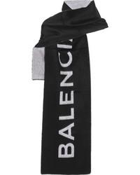 Balenciaga Cashmere And Wool Blend Scarf Black