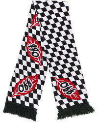 Off-White Chequered Scarf