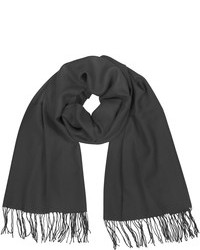Coveri Collection Fringed Solid Wool And Cashmere Pashmina