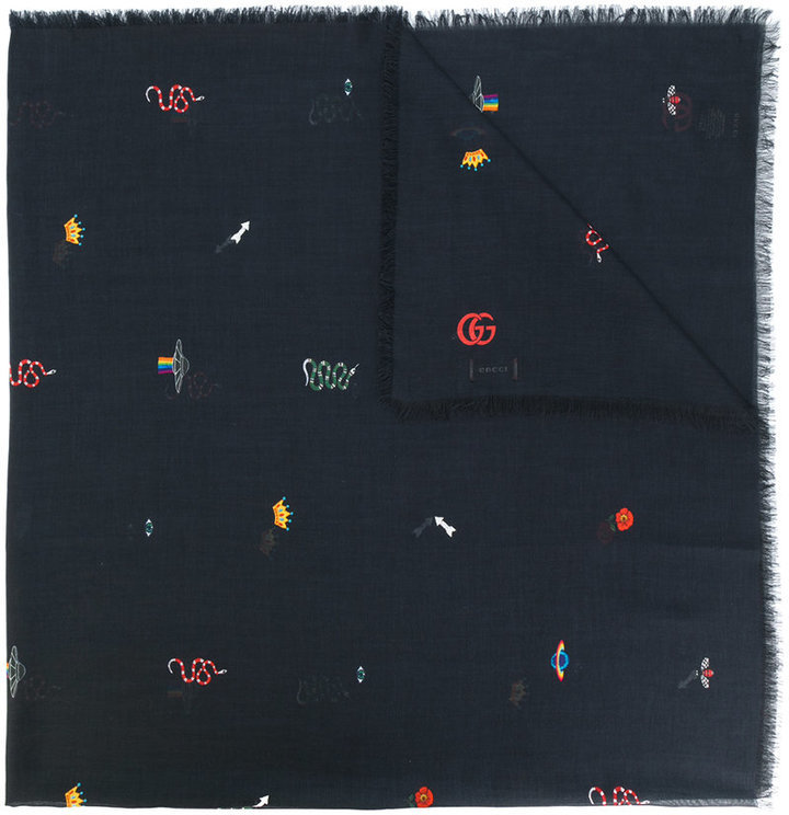 Gucci Embroidered Scarf