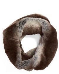 Badgley Mischka Faux Chinchilla Neck Warmer