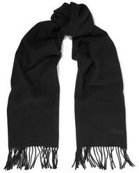 Versace Fringed Wool Felt Scarf