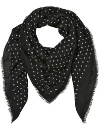 Saint Laurent Grand Carre Lipstick Dots Scarf